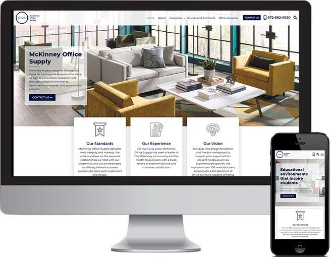 McKinney Office Supply Web Design